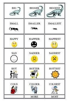 adjectives comparatives superlatives  images