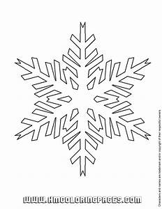 Free coloring pages of snowflake templates
