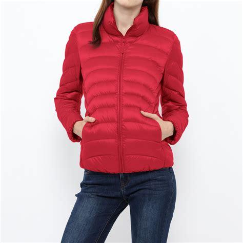 light down jacket women uniqlo women ultra light down jacket in red lyst