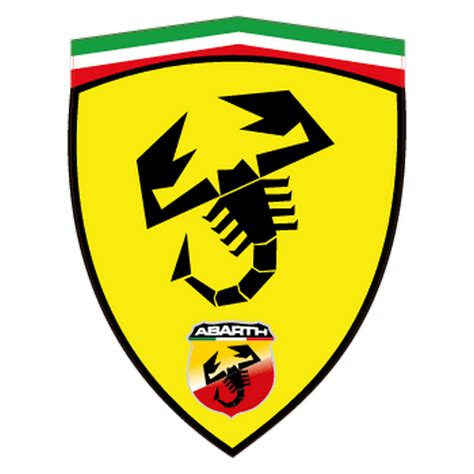 sticker fiat abarth ferrari ecusson