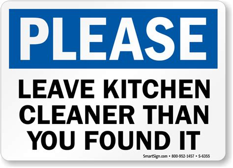 Kitchen Clean Up Signs by Kitchen Signs Keep Kitchen Clean Signs Kitchen