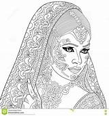 Zentangle Indian Coloring Stylized Adult Saree Cartoon Bollywood Clipart Antistress Vector Illustration Illustrations Lady Bindi Drawings Clip Emblem Drawn Sketch sketch template