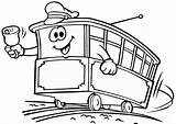 Kereta Gambar Mewarnai Coloring Api Strassenbahn Hitam Kartun Colorear Putih Untuk Thomas Dibujos Train Malvorlagen Tram Tranvias Dibujo Ausdrucken Autobus sketch template