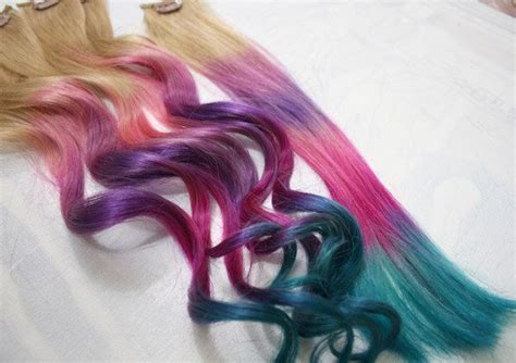 17 Best Ideas About Colored Hair Extensions On Pinterest