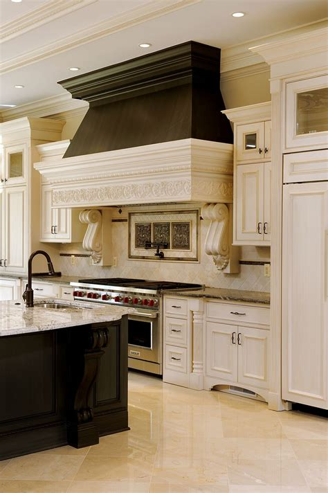 kitchen cabinets that look like furniture like the range the feature at the bottom of the cabinets