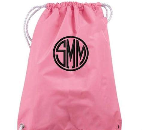 monogrammed drawstring backpack perfect gym bag