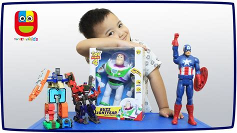 mainan anak robot buzz lightyear captain america optimus prime transformers toys