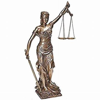 Justice Statue Lady Bronze Inch Resin Statues