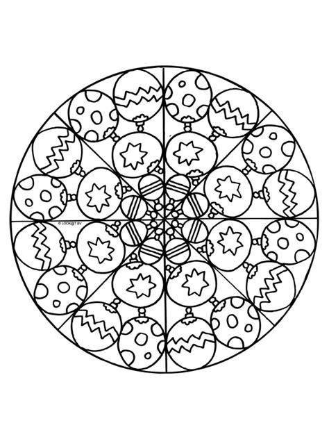 Kleurplaat Mandala Kerst by Kleurplaat Kerstmis Mandala Kleurplaten Nl