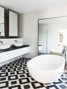 black and white bathroom wall tile designs With black and white tile bathroom decorating ideas