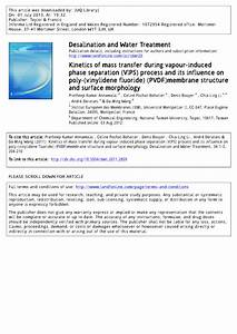 Pdf  Kinetics Of Mass Transfer During Vapour