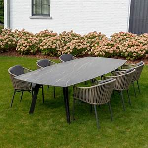 Customizable, Ceramic, Iron, Outdoor, Dining, Tables