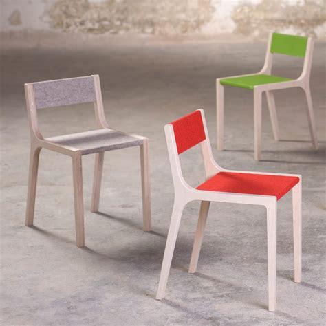chaise bois gris sepp wooden chair with grey felt sirch design children