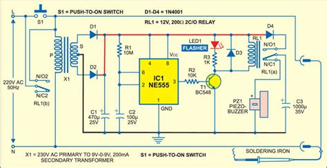 automatic soldering iron switch 59167 circuit and wiring diagram download