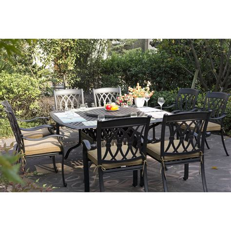 darlee san marcos 10 outdoor dining set atg stores