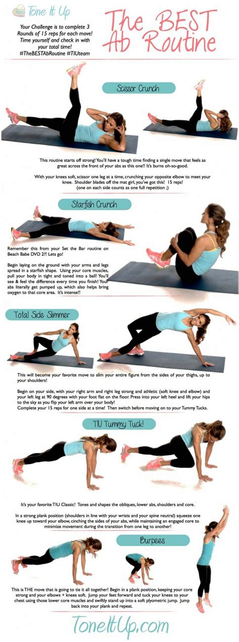 Best Abs Workout The Best Ab Workout Routine Toneitup