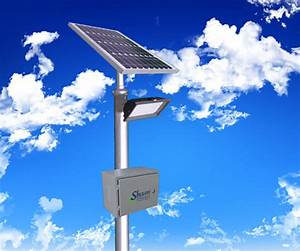 Solar powered led flood light shaan tech