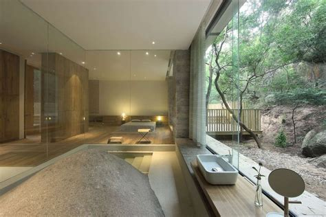 A Tranquil Getaway Home In China by A Tranquil Getaway Home In China Design Bathe Powder