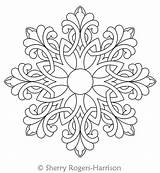 Medallion Celtic Snowflake Quilting Coloring Pages Mandala Digital Patterns Intelligentquilting Stencil Designs sketch template