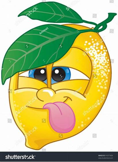 Lemon Funny Face Fruit Candy Drink Character