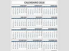 Calendario 2018 Con Vacaciones Calendario 2018 A Partir