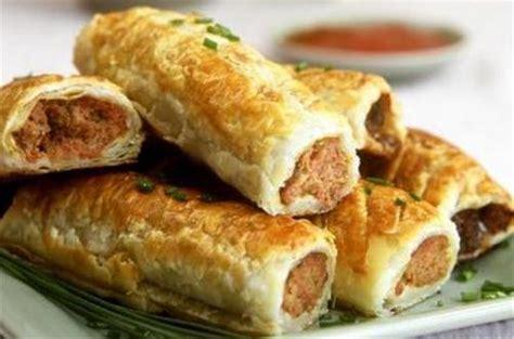 recette de cuisine australienne roulés de pâte feuilletée farcis à la viande hachée australie