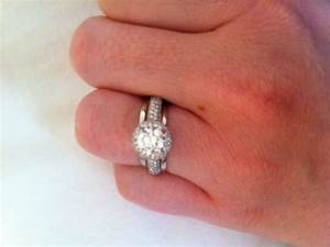 cushion halo e ring with plain band and 2 diamond wedding With halo ring with plain wedding band