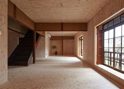 year  japanese home  lined  plywood