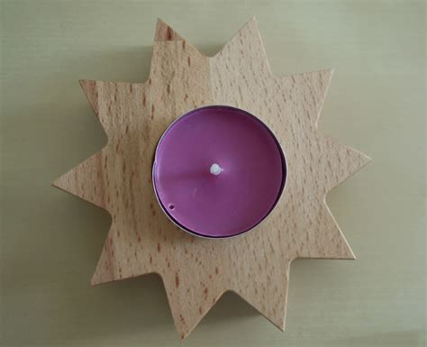 teelichthalter selber basteln teelichthalter aus holz selber basteln anleitung vorlage