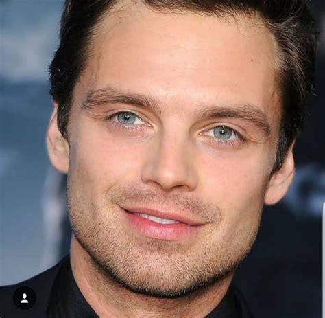 Those blue, blue eyes   Sebastian stan, Bucky barnes ...