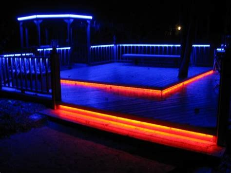 led deck lighting in color