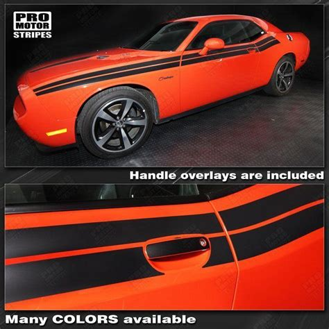 dodge challenger   factory style dual side stripes