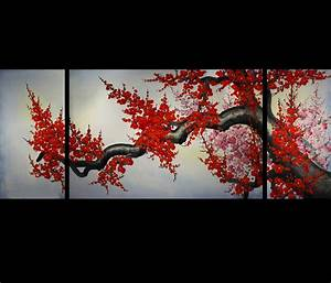 Original modern abstract oil paintings on canvas art ebay for Oriental wall art