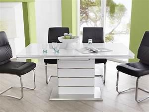 Tisch Weiß Hochglanz Ausziehbar : essgruppe tischgruppe tisch ausziehbar hochglanz 4x schwingstuhl alber maegan ebay ~ Buech-reservation.com Haus und Dekorationen