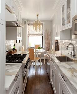 galley kitchen ideas contemporary kitchen emily With best brand of paint for kitchen cabinets with nyc subway wall art
