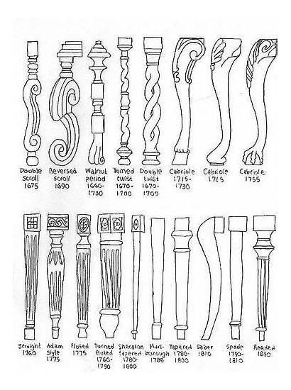Furniture Legs Chair Styles Antique Different Chairs