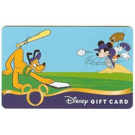 disney collectible gift card sports baseball mickey