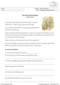 free reading comprehensions reading comprehension the tale of rabbit