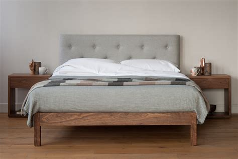 Arran  Pure Wool Covered Headboard Bed  Natural Bed Company
