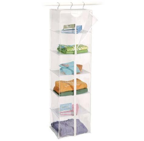 6 Shelf Vinyl Sweater Organizer In Hanging Closet Shelves
