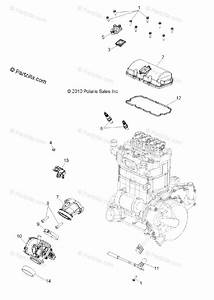 Polaris Side By Side 2012 Oem Parts Diagram For Engine  Throttle Body  U0026 Valve Cover All Options