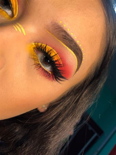 yellow  pink ombre festival makeup  eye