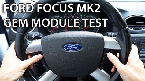 test gem module  ford focus mk  max car