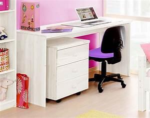Schreibtisch Höhenverstellbar Weiß : massivholz schreibtisch kinderschreibtisch kiefer massiv wei lackiert ~ Markanthonyermac.com Haus und Dekorationen
