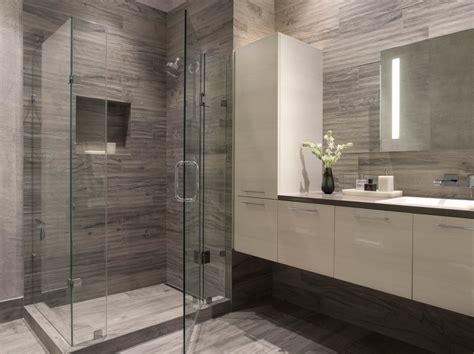 Modern White Bathroom Floor Tile by Townsend Modern Bathroom San Francisco Ca Gray White