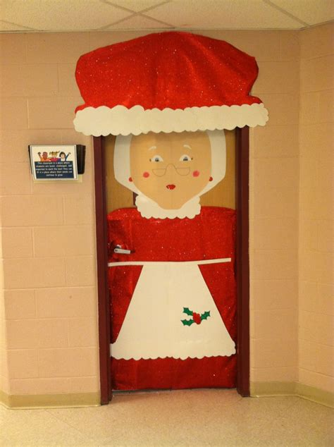 decorating classroom doors for christmas mrs claus classroom door holidays doors classroom door