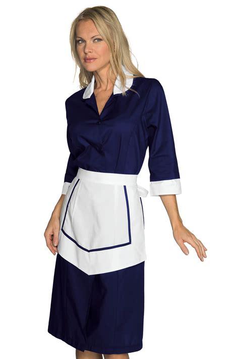 blouse femme de chambre ensemble femme de chambre blouse et tablier bleu blanc