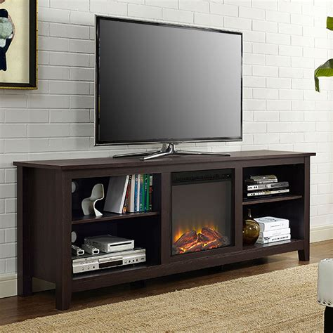 electric fireplace tv stand 70 inch espresso 70 inch electric fireplace tv stand space heater 9644