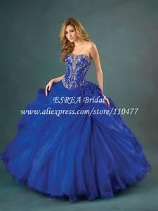 Charming Silver Appliqued Organza Royal Blue Quinceanera ...