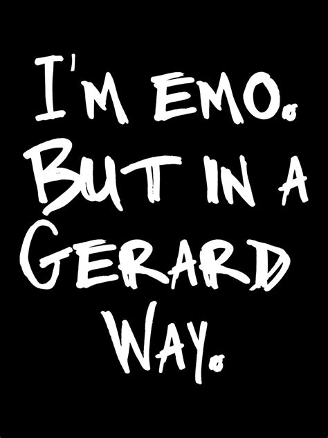 I'm Emo But In A Gerard Way Ladies Black Tshirt Buy